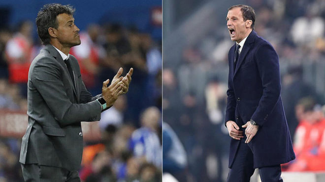 Luis Enrique and Allegri