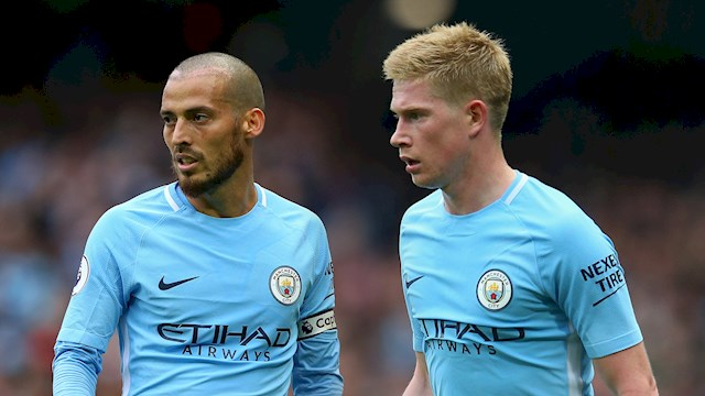Kevin De Bruyne and David Silva