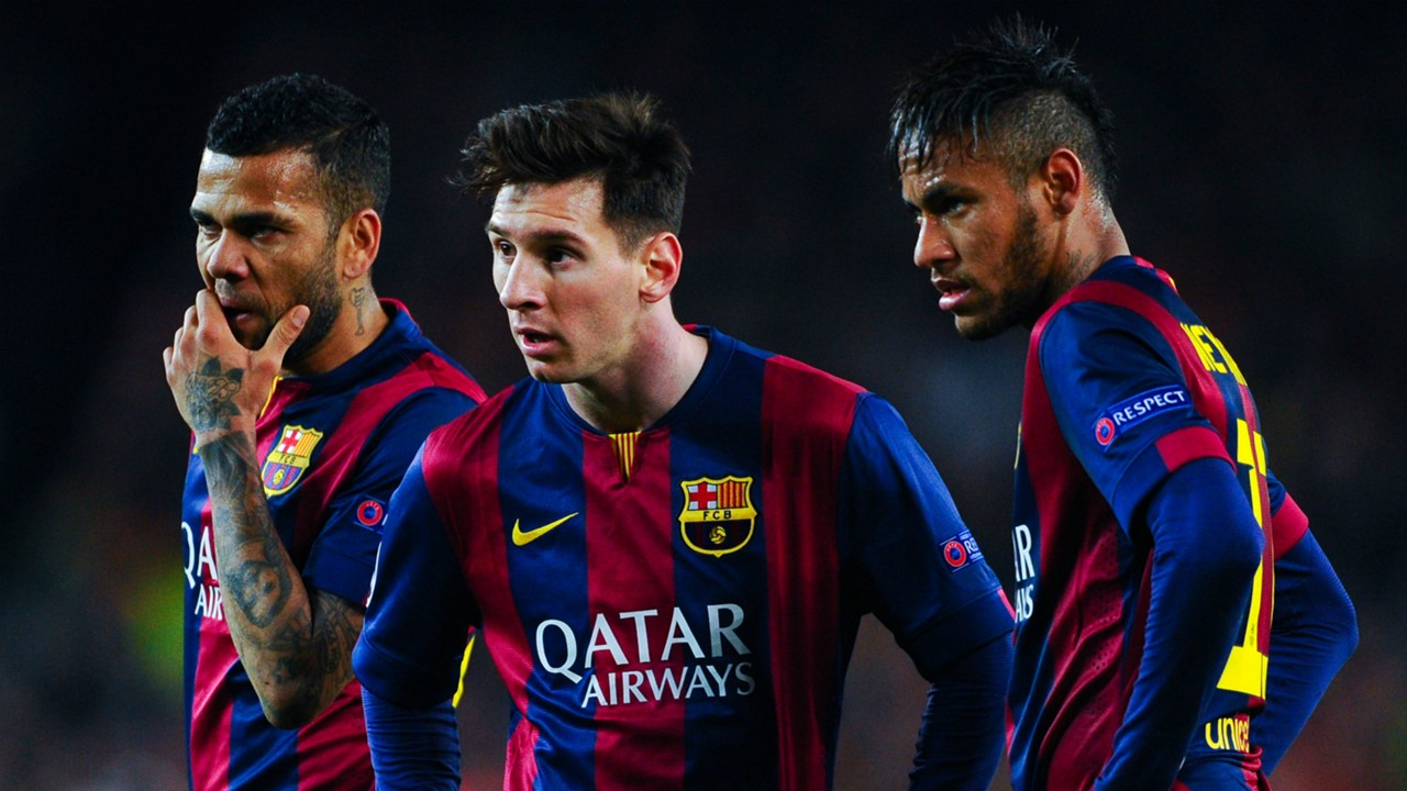 messi and neymar and dani alves