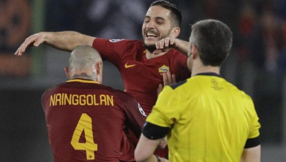 Nainggolan and Manolas
