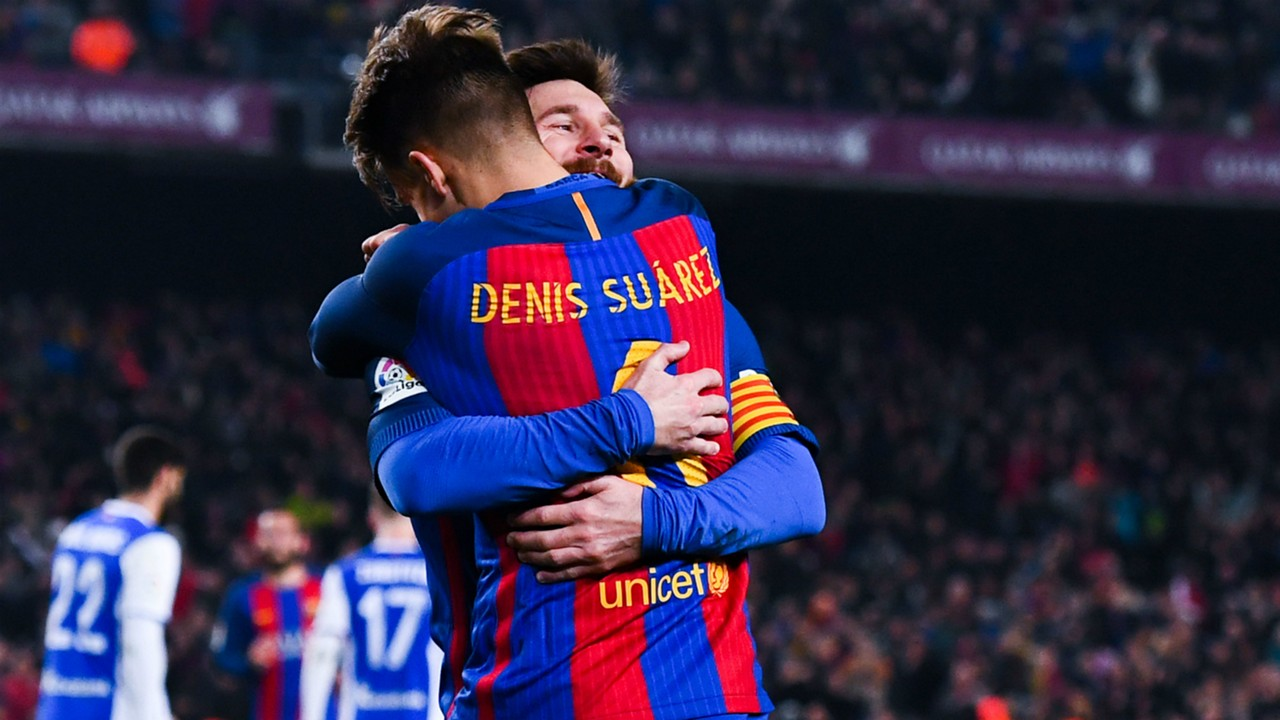 messi and denis suarez